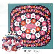 【ご紹介します!安心の日本製!リングを付けると風呂敷バッグにも出来ます!花衣大風呂敷】椿 紫