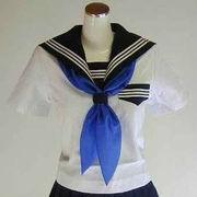 三角型スカーフ 青