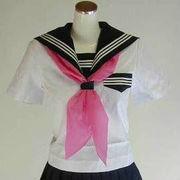 三角型スカーフ ピンク