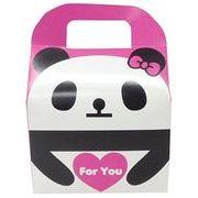 ツイン 『プレゼントなどのラッピングに』 文具シリーズギフトBOX大 ForYouパンダ ローズ GE0591 2A