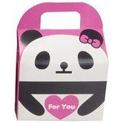 ツイン 『プレゼントなどのラッピングに』 文具シリーズギフトBOX小 ForYouパンダ ローズ GE0592 2A