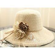 ★大人気ラフィアハット★ レディスファッション&帽子★草編み帽子★