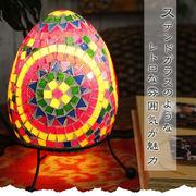 エッグ型モザイクランプ【型番号2ba22-1】