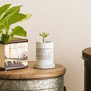 コンクリー壁の質感をイメージした皿付ポット【フォーベトン・ロングポットセット・S】