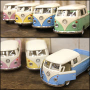 【1963 VW Bus Double Cab Pickup (Pastel Color)1:34(M)】ダイキャストミニカー12台セット★