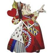 ◆英アソート対象商品◆【英国雑貨】Lark Rise Designs時計 不思議の国のアリスQueen of Hearts(LRC36)