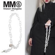 MM6 MAISON MARGIELA エムエム6 南京錠モチーフ クリアチェーンベルト クリア【S54TP0011-S11326963】