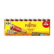 FUJITSU アルカリ乾電池 単3形 1.5V 10個パック /乾電池 バッテリー アルカリ  単3