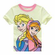 アナと雪の女王半袖Tシャツ90cm~130cm 韓国子供服 春夏