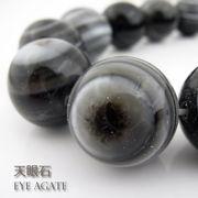 天眼石(しまメノウ)【丸玉】20mm【天然石ビーズ・パワーストーン・1連販売・ネコポス配送可】