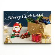 世界最小級のクリスマスプレゼント☆nanoblockクリスマスカード【サンタとブッシュドノエルB】