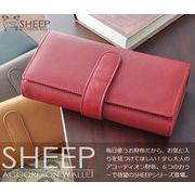 SHEEP羊革ソフトレザーロングアコーディオンウォレット/ レディース メンズ 羊革 長財布