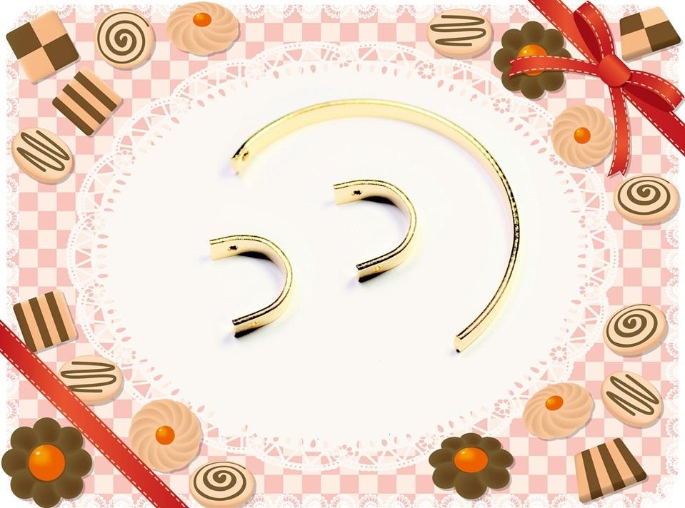 【店内全商品営業日当日東京から出荷】デザイン半円幾何チャーム ラウンドチャーム 基礎金具
