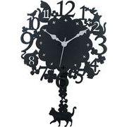 ヂャンティ商会 振り子時計 黒猫クローバー