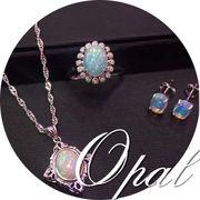 BC138480◆5000以上【送料無料】◆本物天然宝石 オパール リング ペンダント ピアス