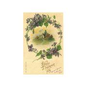 フランスのトゥールーズより輸入のすみれのポストカード【thank you】【母の日】【プレゼント】
