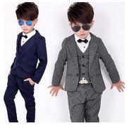 d4c9ab089a18a 韓国子供服 キッズ 子供服 スーツ シャツ 4点セット フォーマル 男の子長袖