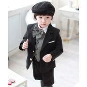 一番人気 高級感 6点セットキッズスーツ 子供スーツ フォーマル タキシード男の子 七五三