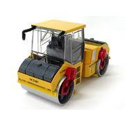 <インテリア雑貨・ミニカー>ダイキャスト合金製 建設車 はたらく車 重機 1:35 ロードローラー