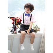 人気新作 上品 4点セット かっこいい 子供スーツ フォーマル 男の子 キッズスーツ 七五三 七五三 可愛い
