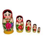 ロシア伝統柄のマトリョーシカ ロシヤーノチカ 5個組