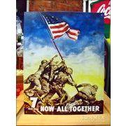 アメリカンブリキ看板 星条旗をかかげる兵士達 -硫黄島の決戦-