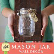壁掛け メイソンジャー 1連 Ball Mason jar クリアー