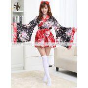 赤い 豪華 花魁 浴衣 着物ドレス  和服コスプレ 4020