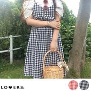 夏新作 ギンガムチェックキャミワンピース ma【7/12頃発送】 ワンピース キャミワンピ
