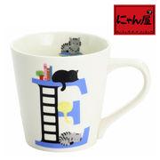 「にゃん屋」★猫アルファベットマグカップ E(1個箱入り)