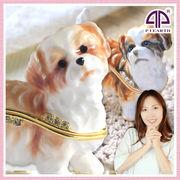 シーズー 犬の置物 宝石箱  ジュエリーボックス