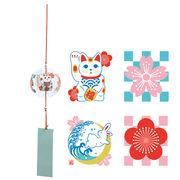 ガラス和風鈴/招き猫