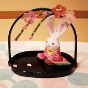 かご付兎 桜