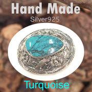 バックル / TQ-BK22  ◆ Silver925 シルバー ハンドメイド バックル ターコイズ