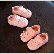 【子供靴】★可愛いデザインの子供靴★子供向け皮靴★女の子★2色★サイズ15-19