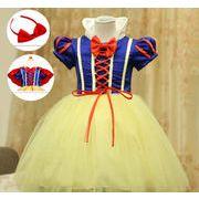 ★白雪姫衣装  ハロウィン売り切り大人気! 子供用 コスプレ衣装  3セット 服+マント+ヘアピン