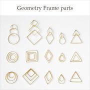 一部50%OFF♪金属チャーム♪幾何学フレームパーツ・レジン枠♪真鍮♪ゴールド♪スリムタイプ♪10個