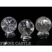 ☆高品質☆【置き石】丸玉 25mm 天然レインボー水晶