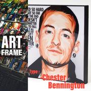 ポップアートフレーム 壁掛け 25cm×25cm Chester_Bennington(LINKINPARK)