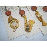 手づくり 木製楽器のストラップ 大正琴蛇味線追加