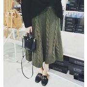 春秋冬レディーススカート 2色 ニットスカート ニット編み ロングスカート人気 通勤通学
