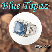 大きいサイズ / 11-0262 ◆ Silver925 シルバー  リング ブルートパーズ
