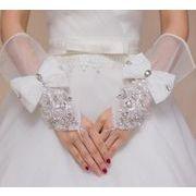 【ニュー】★結婚式★花嫁定番★結婚式★花嫁定番ウェディング手袋★パイピングタイプ