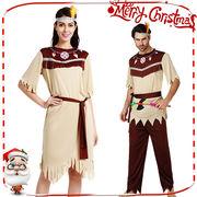 土着民 仮装 ハロウィン コスチューム レディース/メンズ 2タイプ インディアン風