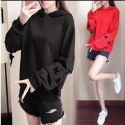 【大きいサイズXL-5XL】ファッショントップス♪アカ/ブラック/ブルー3色展開◆