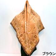 【日本製】【ウール】【スカーフ】88cmx88cm日本製ウール100%プリントスカーフ