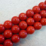 赤サンゴ8ミリ1連売り レッドコーラル 赤サンゴ サンゴ 珊瑚 天然石 パワーストーン 手作り
