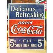 アメリカンブリキ看板 コカ・コーラ 5セントでおいしい