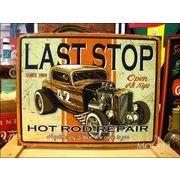 アメリカンブリキ看板 ホットロッド/Hotrod Last Stop