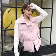 秋服 新しいデザイン 韓国風 ダブルブレスト コットン 短いスタイル 単一色 気質 着や